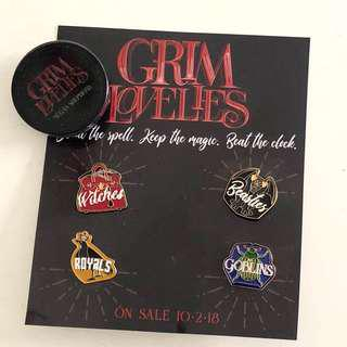 Limited edition pins