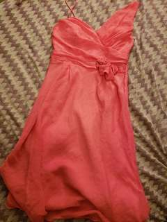 Pink formal dress size small