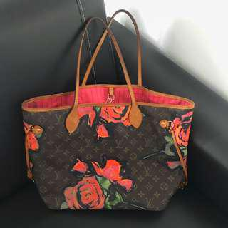 Premium Louis Vuitton Stephen Sprouse Roses Neverfull