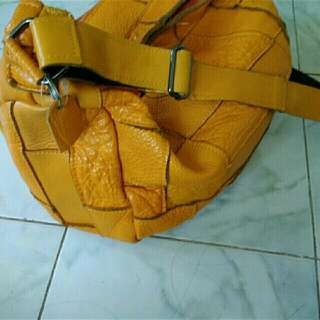 Sale Pure Leather Yellow Bag