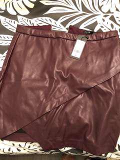 Dynamite leather skirt - medium