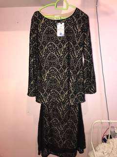 [NEW] Lace Black Baju Kurung
