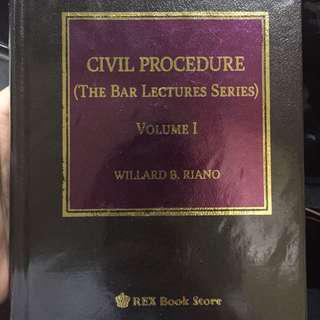LOOKING FOR! Civil Procedure vol 1 riano 2016