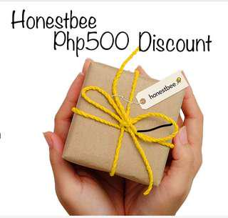 Get 500 Pesos off at Honestbee.