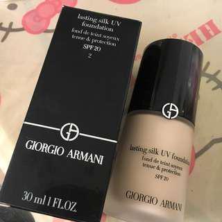 Giorgio Armani lasting silk UV foundation 2號色