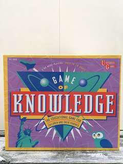 Vintage 1995 Game of Knowledge Board Game