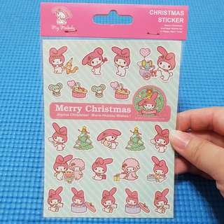 My Melody Merry Christmas Sanrio Stickers