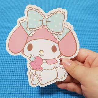 1 Piece My Melody with Strawberry Sanrio Sticker
