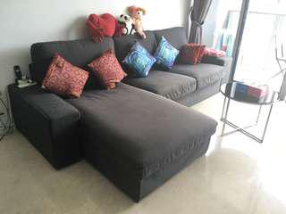 Ikea 3 seater L shape sofa
