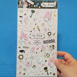 1 Sheet My Melody Sanrio Stickers