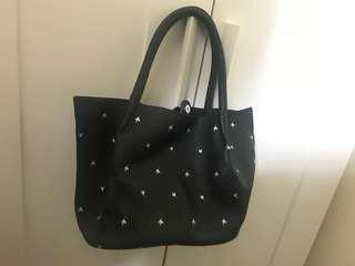 Zara faux leather hand carry tote bag 95% new