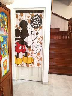 In Stock BN Door Curtain Mickey Mouse Japanese Partition