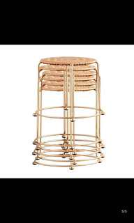 Luxe Gold stool