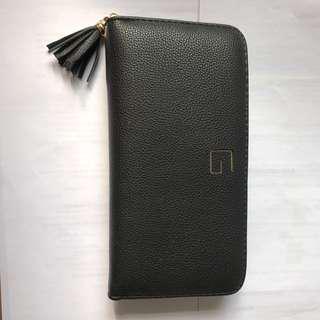 Korean uzzlang black wallet