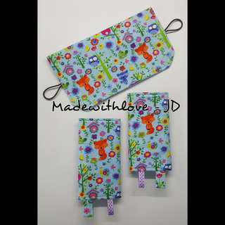Padded drool pad with padded topper bib