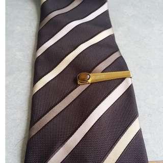 1950s Semi Precious Gem Stone Vintage Mens Tie Clips (European)