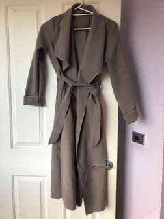 Mocha coloured long coat