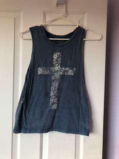 Blue cross top