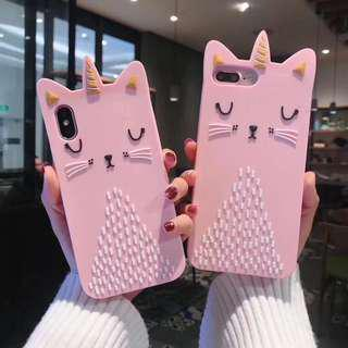 Unicorn Cat Pink Iphone 6/6s/6+/7/7+/8/8+/X Mobile Casing