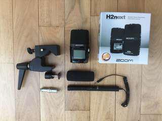 H2N Zoom Recorder + Azden SGM990 Zoom Mic