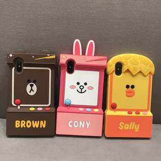 Brown Toy Machine Iphone 6/6s/6+/7/7+/8/8+/X Mobile Casing