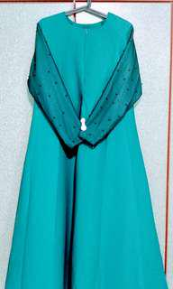 Pearl Emerald Green (more like teal) Jubah Size L*New*
