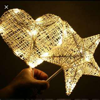 🚚 Wicker star fairy Lights (hearts sold out)