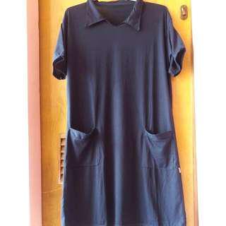 Dress Navy Bahan Kaos