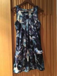 超靚H&M絲質順滑連身裙  泡泡裙 modern classic style one piece dress