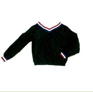 Off shoulder stripe blouse