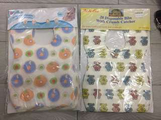 Baby disposable bibs with crumb catcher一次性圍巾