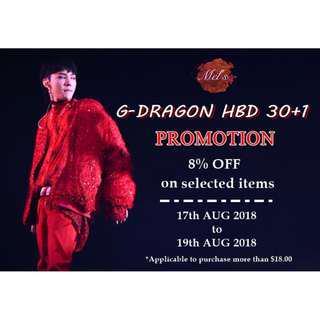GD HBD 30+1 Promotion • G-Dragon PMO Peaceminusone Kwon Jiyong Bigbang BB 31 Birthday