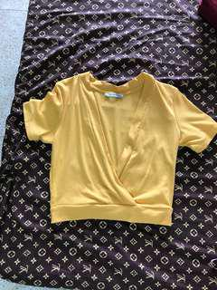 Orig zara mustard yellow cropped top