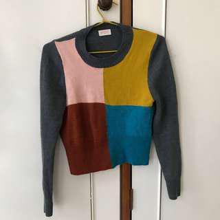Gorman 100% Merino Wool Colour Block Jumper