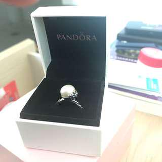 New Pandora Pearl Ring (Size 58)