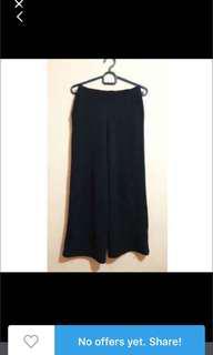 free ongkir : new celana kulot hitam
