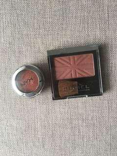 Makeup Bundle #50Under rimmel blush + nyx eyeshadow