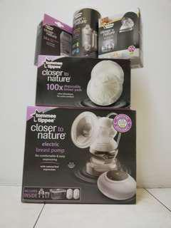 Tommee Tippee Breastpump and Accessories