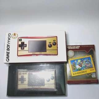 罕有 GAME BOY micro Famicom 20th 紀念限定版 主機連II掣造型面板