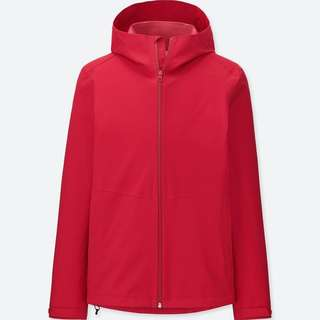 Uniqlo Blocktech Parka mens red hoodie jacket L BNWT P2,990