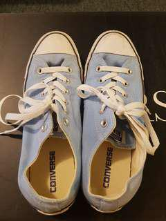 Converse all star in blue uk8
