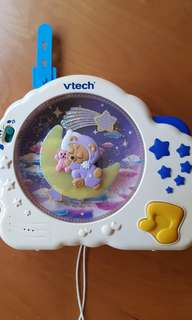Baby cot night light and music