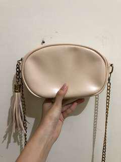 ZALORA Nude Sling Bag