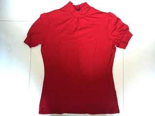 Red Turtle Neck Shirt (PRICE REDUCED)