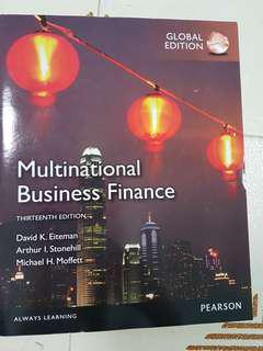 Multinational Business Finance 13th - Pearson