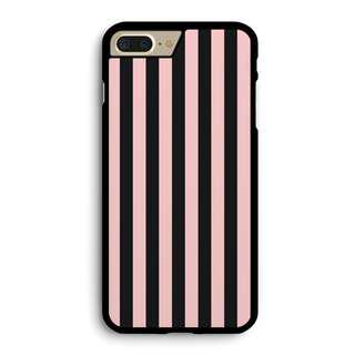 Pink and black striped Phone case