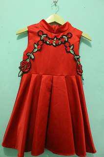 Preloved kids cheongsam dress