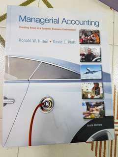 Managerial Accounting Creating Value in a Dynamic Business Environment 10th - McGraw Hill