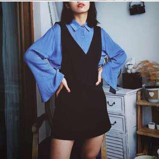 [2 FOR $14]Black pinafore