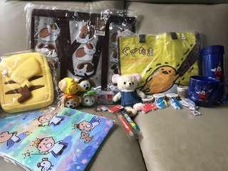 清貨 超平 超抵 梳乎蛋 Pokemon 迪士尼 Disneyland Disney tsum tsum夏目友人賬 誠品mt 貼 超大福袋 $200(只得一套,賣完即止)